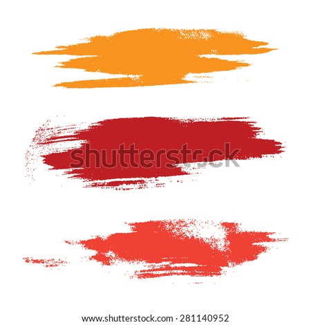 Strokes of paint isolated on white background - stock vector