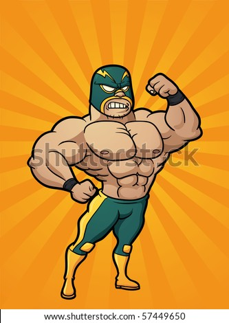 Strong Person Cartoon Strong cartoon mexican