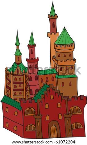 Strong castle - stock vector