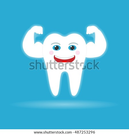 Strong healthy tooth.