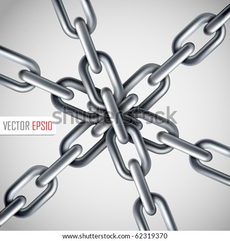 Strong link concept. Vector Illustration - stock vector