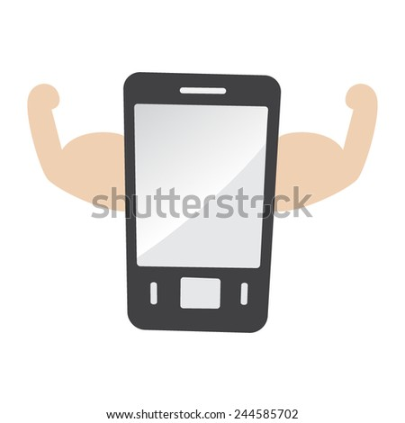strong mobile phone vector - stock vector
