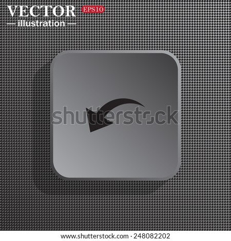 Structural gray background with shadow, gray square, arrow indicates the direction, vector illustration, EPS 10 - stock vector