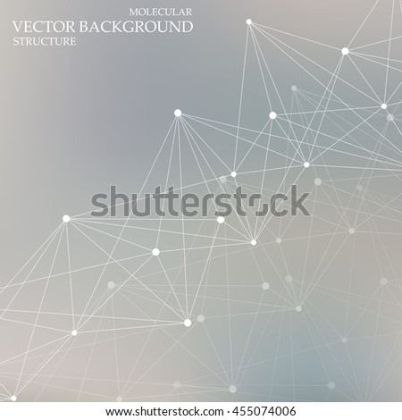 Structure molecule and communication Dna, atom, neurons. Science concept for your design. Connected lines with dots. Medical, technology, chemistry, science background. Vector illustration - stock vector