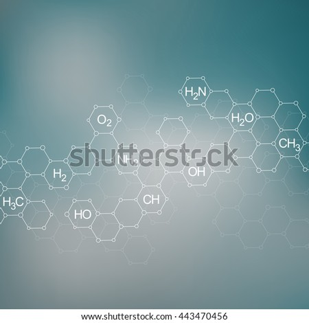 Structure molecule of DNA and neurons. Genetic and chemical compounds. Medicine, science and technology concept. Abstract background. Vector illustration for your design. - stock vector