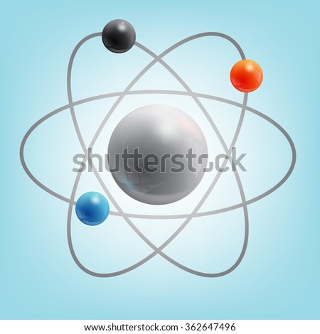 structure of the atom - stock vector
