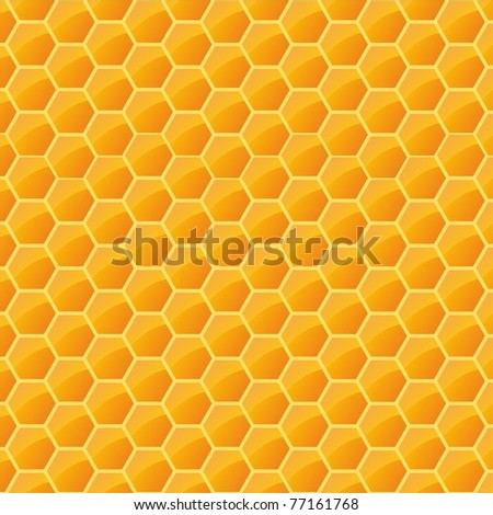 structure with honeycomb - stock vector
