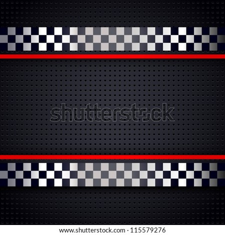 Structured metallic perforated for race sheet background, vector design 10eps - stock vector
