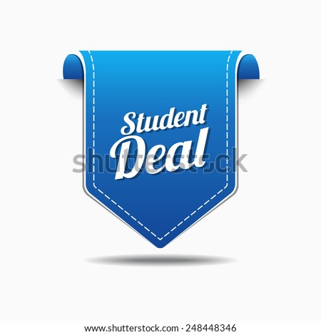 Student Deal Blue Vector Icon Design