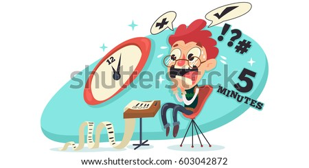 Worry stock images royalty free images vectors shutterstock student experiences exam stress excitement worrying fear vector cartoon character illustration thecheapjerseys Image collections