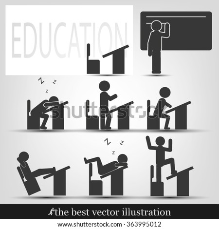 students in classroom icon vector illustration eps10.