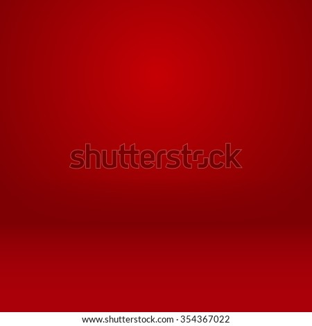 Studio room mock up abstract chinese new year background vector design in red room empty - stock vector
