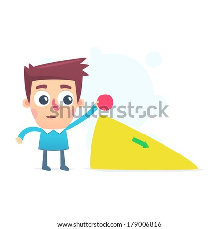 study the laws of physics - stock vector