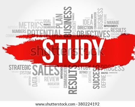 Study word cloud, business concept background - stock vector