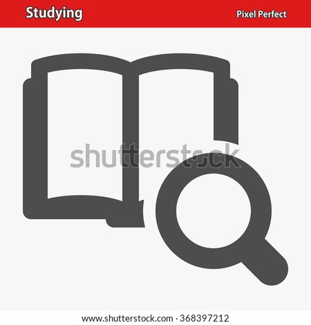 Studying Icon. Professional, pixel perfect icons optimized for both large and small resolutions. EPS 8 format. - stock vector
