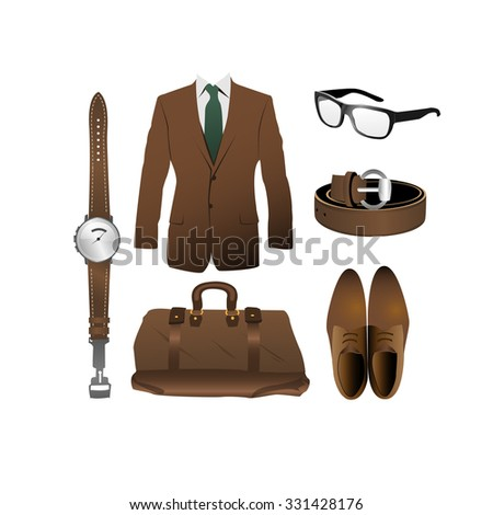 stuffs and accessories for men - stock vector