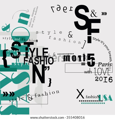 STYLE and FASHION word cloud concept. Vector illustration