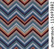 Style Seamless Knitted Pattern. Blue Brown White Orange Color Illustration from my large Collection of Samples of knitted Fabrics - stock vector