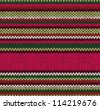 Style Seamless Knitted Pattern. Red Pink Green White Color Illustration from my large Collection of Samples of knitted Fabrics - stock
