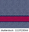 Style Seamless Marine Blue White Red Color Knitted Vector Pattern - stock vector