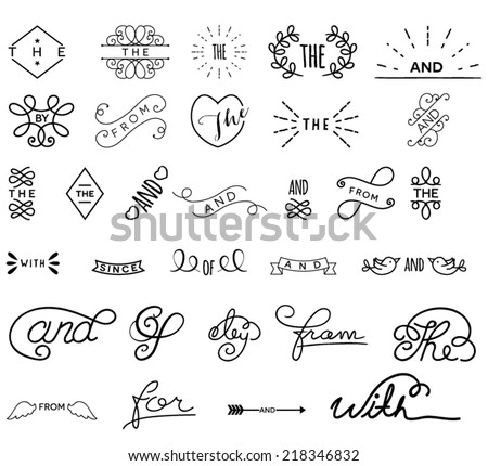 Style Words featuring thes and ands design - stock vector