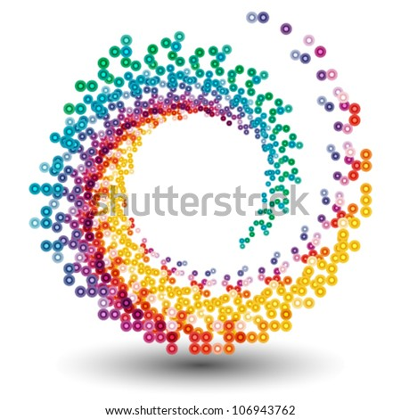 stylish abstract design element, logo - stock vector