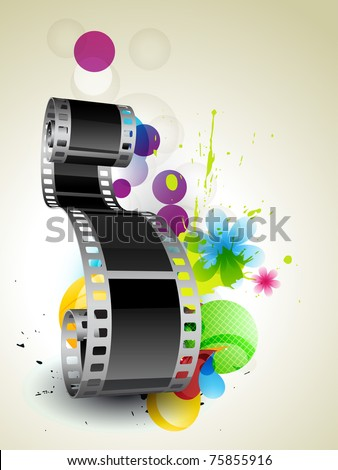 stylish abstract film on abstract background - stock vector