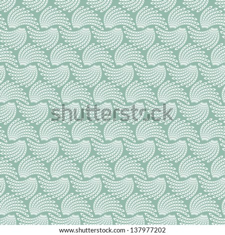 Stylish abstract floral background, white texture. Seamless vector pattern.