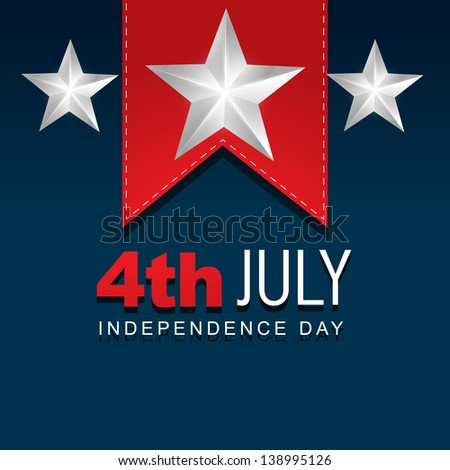 stylish american independence day design - stock vector