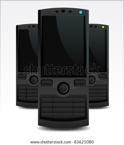 Stylish and sleek casual mobile phones - stock vector