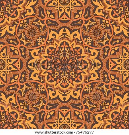 stylish arabic ornament, seamless vector illustration - stock vector