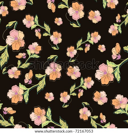 Stylish beautiful bright floral seamless pattern. Abstract Elegance vector illustration textu - stock vector
