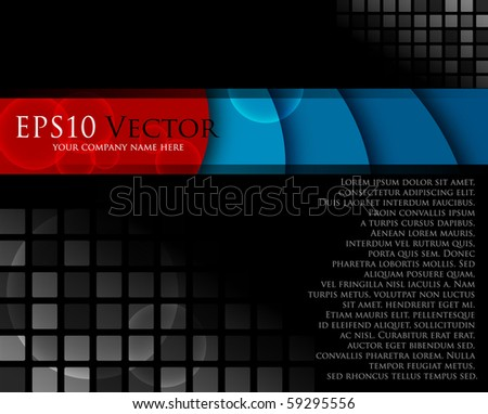 Stylish black abstract composition - vector illustration - stock vector