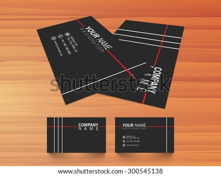 Stylish black business card design on stock vector 300545138 stylish black business card design on shiny wooden background for your company or organization colourmoves