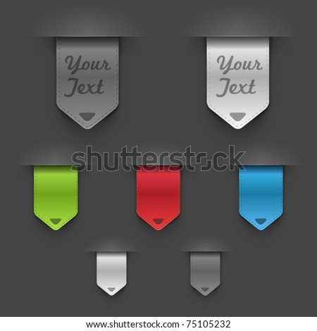 Stylish bookmarks. Vector - stock vector