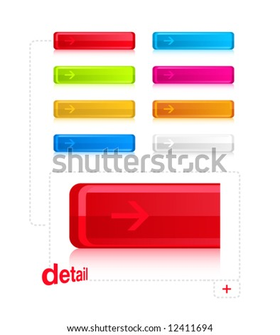 Stylish Buttons - stock vector
