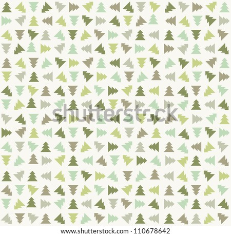 Stylish christmas tree pattern. Vector illustration - stock vector