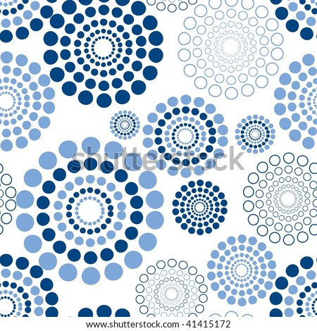 Stylish colored pattern for modern blue background