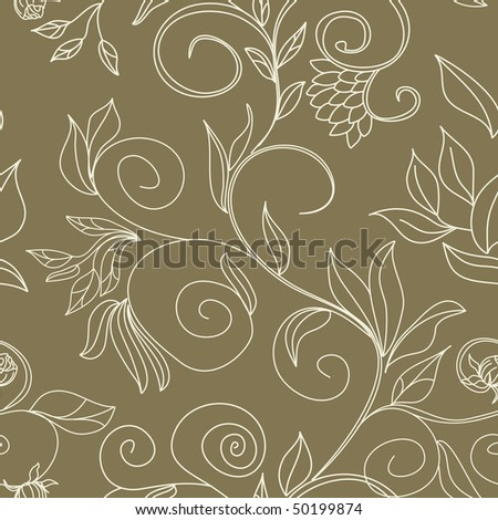 stylish colorful floral seamless wallpaper - stock vector