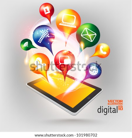 stylish conceptual social networking vector design - stock vector