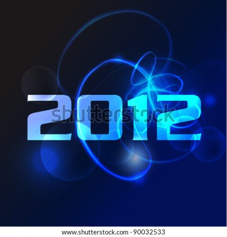 stylish cool 2012 card vector background - stock vector