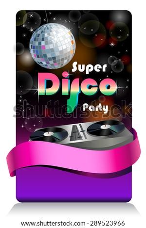 Stylish disco banner Music Concept, Retro Poster Template. - stock vector