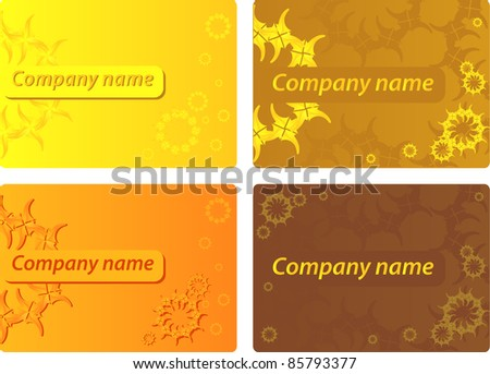 stylish  floral business Card Template. Design vector - stock vector