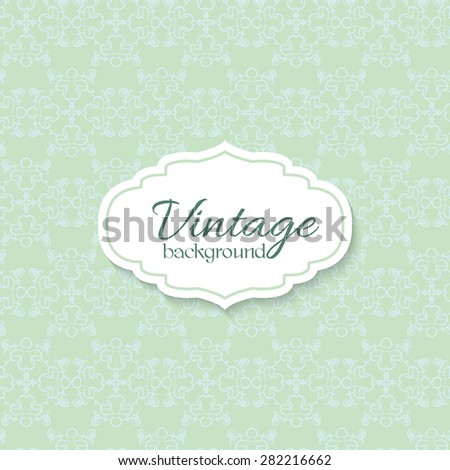 Stylish Floral Card in Vector. Spring Wallpaper. Ideal for Wedding Invitation. Save the Date Card. Romantic Wreath With Place for Your Text