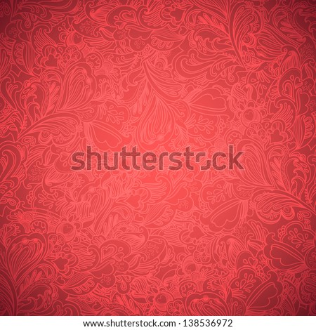 Stylish floral seamless vector background - stock vector