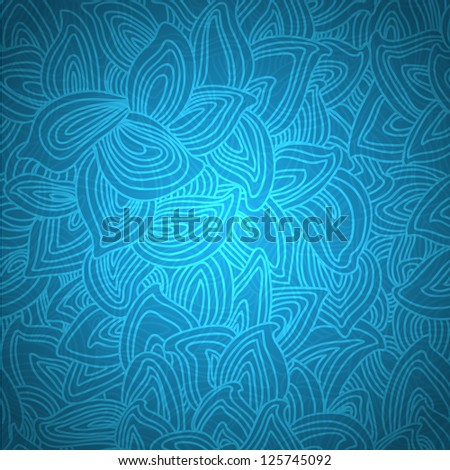 Stylish floral vector background. beautiful petals, loops, thread - stock vector