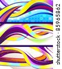 stylish flowing abstract vector banners - stock vector