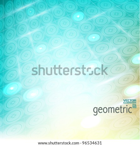 stylish geometrical graphic design background - stock vector
