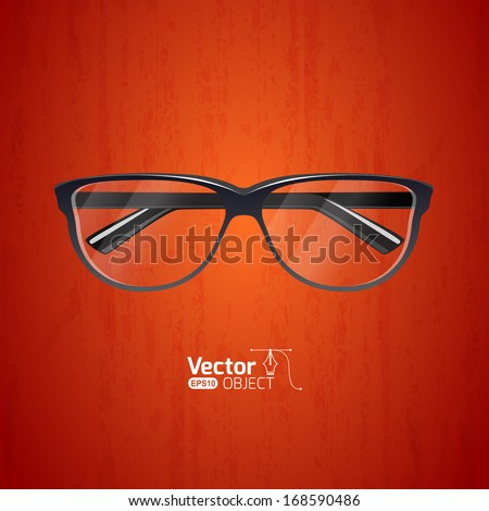 Stylish glasses - stock vector