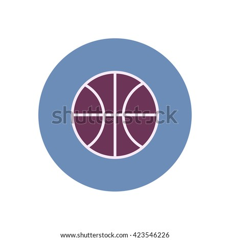 stylish icon in color  circle Basketball ball  - stock vector